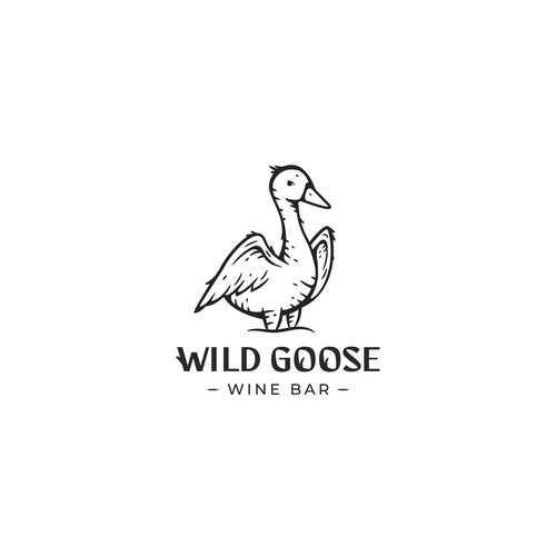 Wine bar design with the title 'Goose'