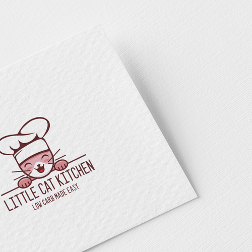 Chef hat logo with the title 'Cat chef logo'