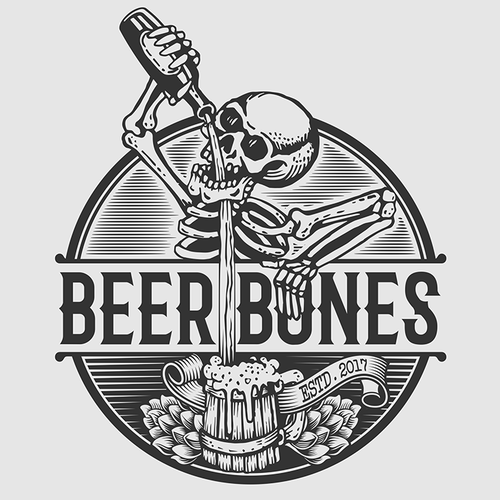 Brewing company logo with the title 'Design a Cool Logo for New Craft Beer Taproom'