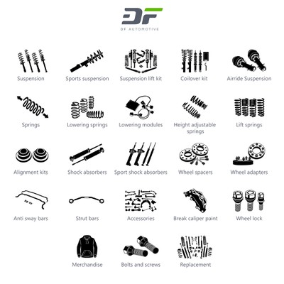 Suspension Shop Categorie Icon Set