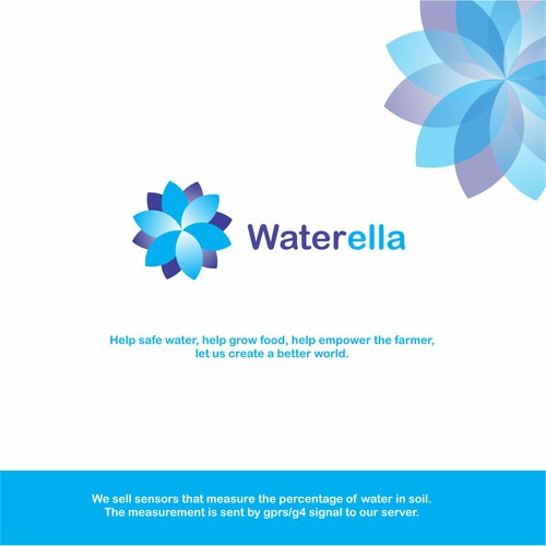 Blossom design with the title 'Waterella'