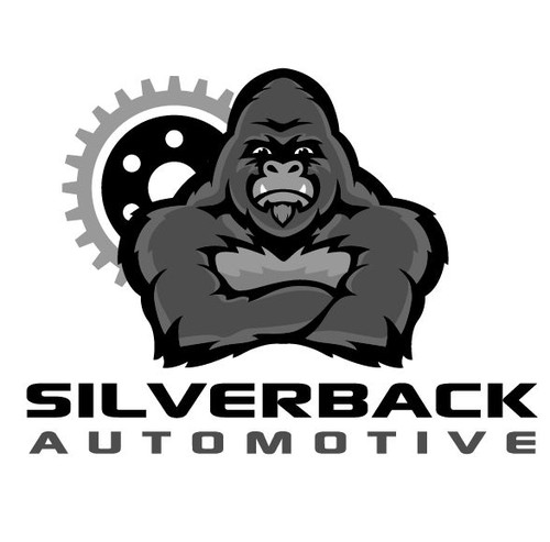 Gear logo with the title 'Gorilla Logo for Car Dealership'