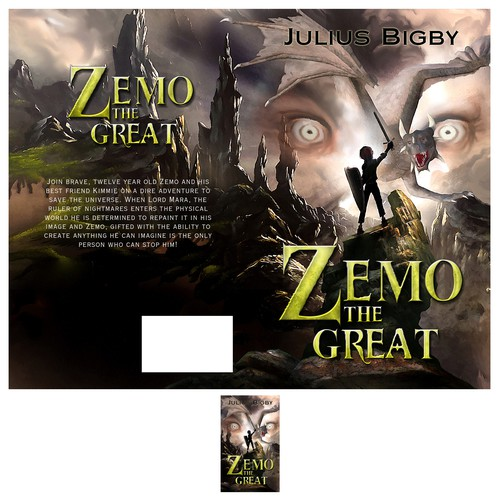 Fairy tale book cover with the title 'Zemo The Great'