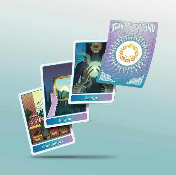 Card artwork with the title 'Custom Card Illustrations'