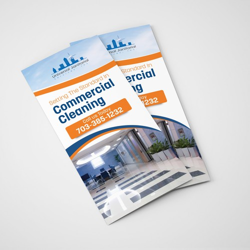 Commercial design with the title 'Brochure for commercial cleaning business'