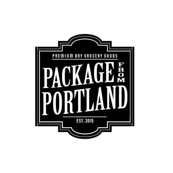 Portland logo with the title 'Logo for a new premium dry grocery goods company'