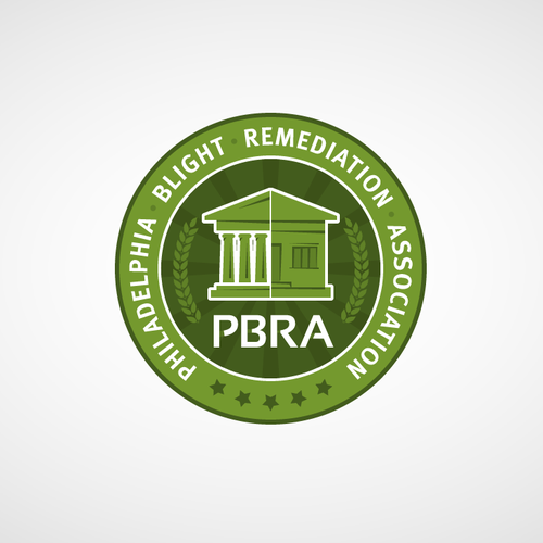 Philadelphia logo with the title 'Philadelphia Blight Remediation Association'