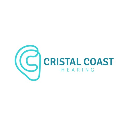 Hearing design with the title 'LOGO CRISTAL COAST'