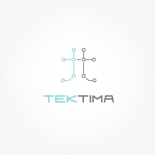Circuit board logo with the title 'TekTima'