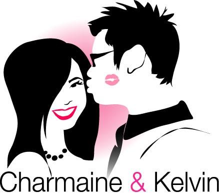 Bride and groom logo with the title 'Design a Fun Wedding Logo'