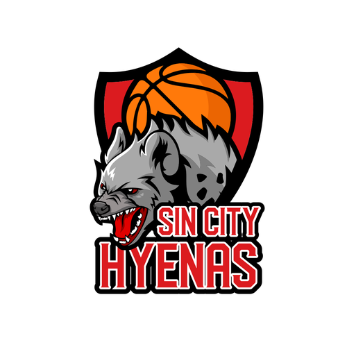 Jackal logo with the title 'Sin City Hyenas'