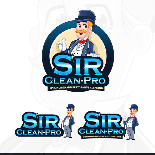 Butler design with the title 'Use your awesome skills to provide a fun and elegant logo for a friendly and professional cleaning/ restoration company.'