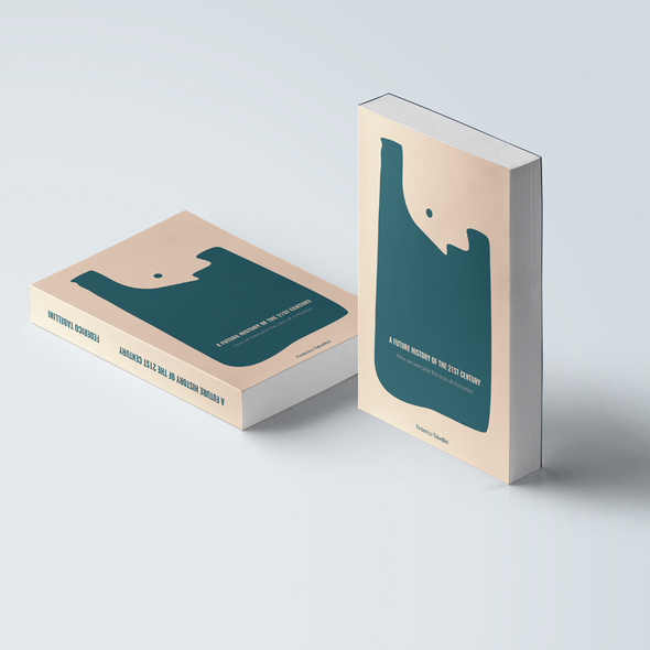Face book cover with the title 'Negative space book cover'