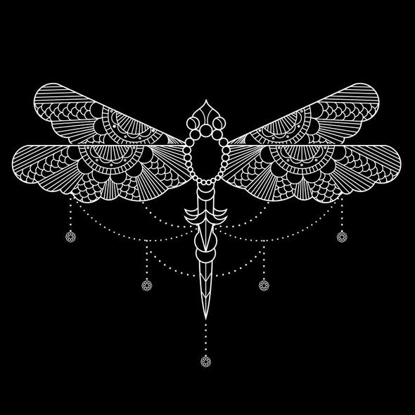 Unique artwork with the title 'Dragonfly Line illustration'