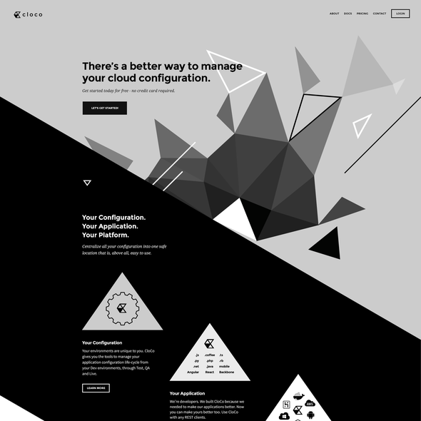 Bootstrap website with the title 'cloco Website Design'