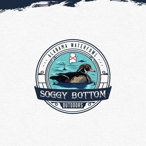 Swamp logo with the title 'Soggy Bottom Outdoors'
