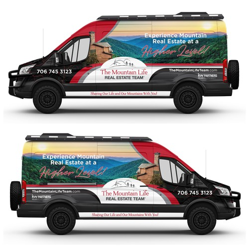 Wrapping design with the title '4x4 Adventure theme for a Ford Transit'