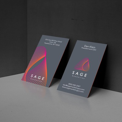 Business Card Design Concept For Sage Marketing