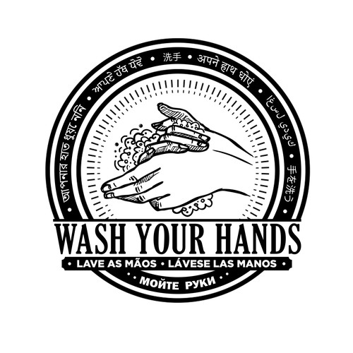 Health t-shirt with the title 'Wash Your Hands '