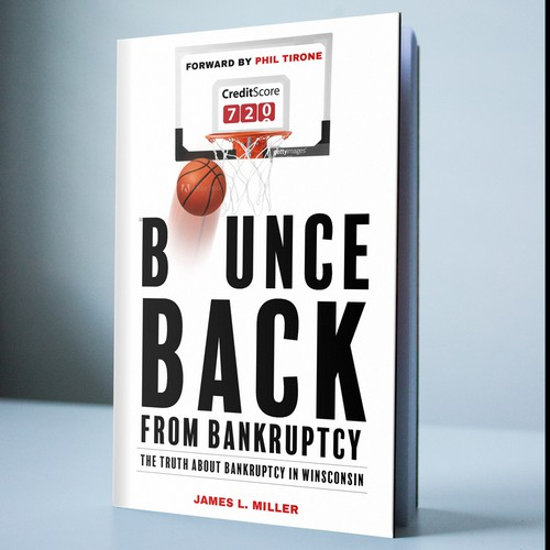 Law book cover with the title 'Bounce Back - Book Cover Design'
