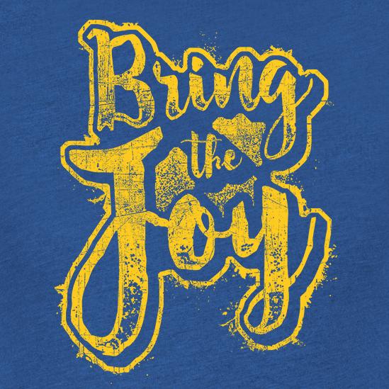 Joyful design with the title 'Typographic Design T-shirt'