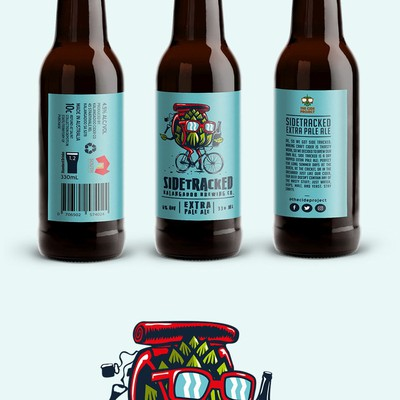 Bold and fun hop & beer design