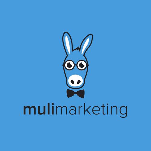 Donkey design with the title 'muli marketing'