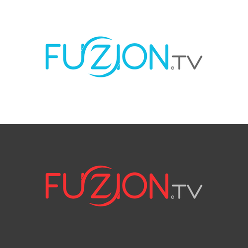 Fusion design with the title 'TV Service Logo with a Twist'