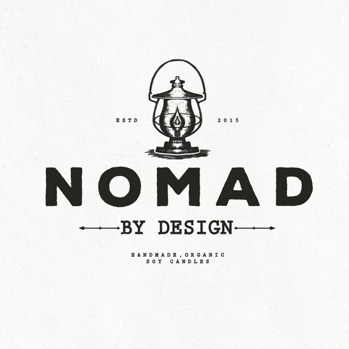 Lamp logo with the title 'NOMAD'