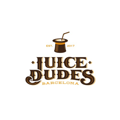 Juice logo with the title 'Logo for Juice Bar in Barcelona'