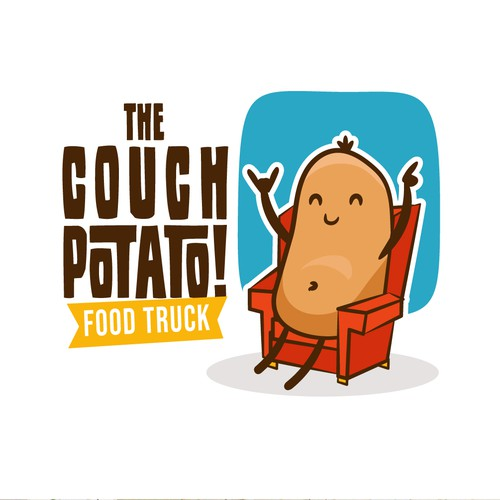 Sofa logo with the title 'The Couch Potato!'