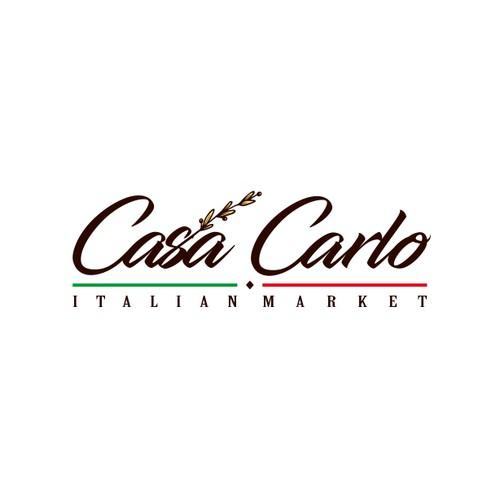 Grain logo with the title 'Casa Carlo Italian Market'