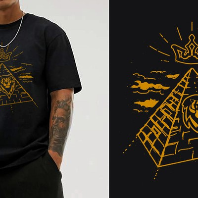 Illustrative T-shirt design for an urban wear brand