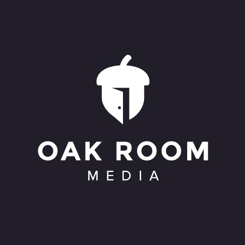 Door logo with the title 'Catchy logo design for a media company'