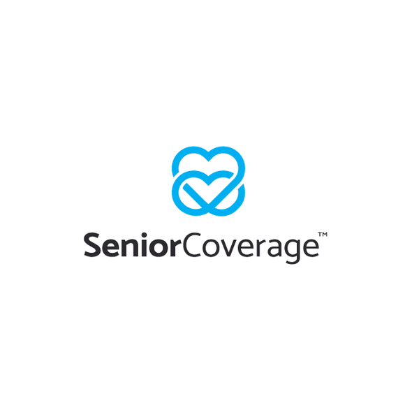 Heart logo with the title 'SeniorCoverage'