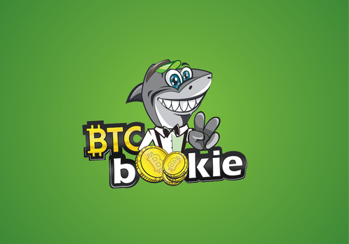 Shark logo with the title 'Logo for Bitcoin e-gambling company'