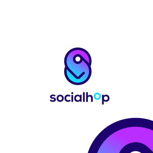 Gradient design with the title 'Logo for social travel platform'