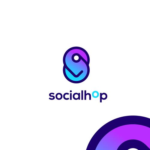 Gradient design with the title 'Logo for social travel platform'
