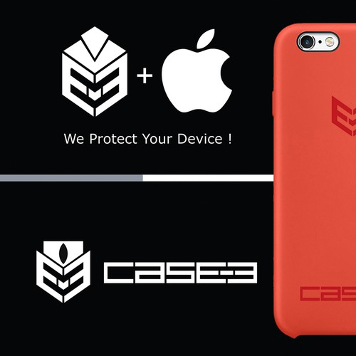 Phone case design with the title 'CASE-3'
