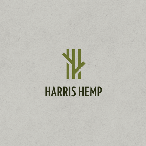 Earthy logo with the title 'Logo for Harris Hemp'