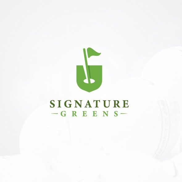 Golf logo with the title 'Shield Golf'