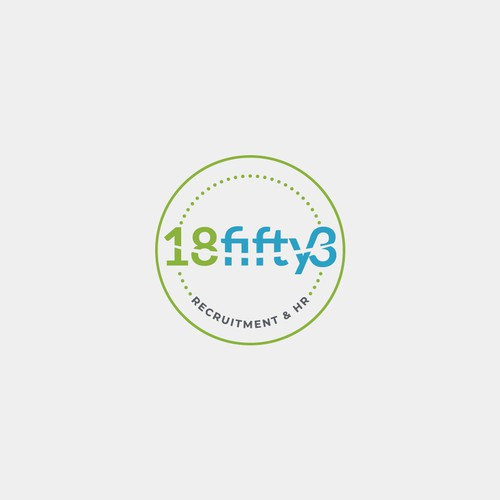Human resources logo with the title '18fifty3 LOGO'