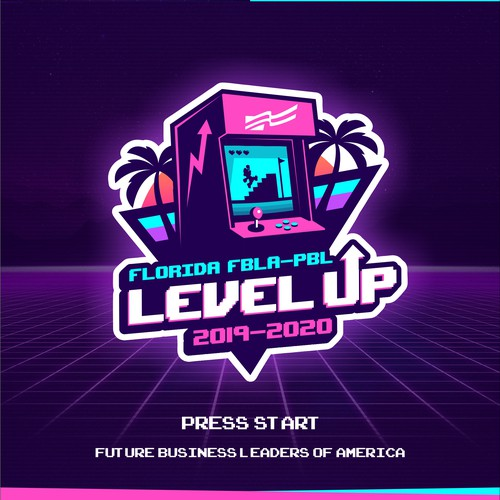 Pinball logo with the title 'Level Up (logo)'