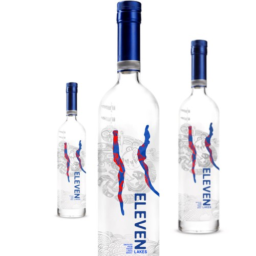 Logo label with the title 'Label for a new premium American vodka.'