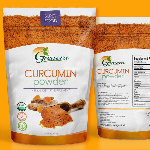 Gluten-free packaging with the title 'MODERN SUPPLEMENT POUCH DESIGN'