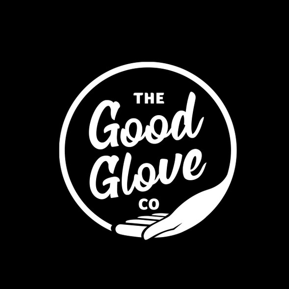 Giving logo with the title 'Gloves manufacturer logo'