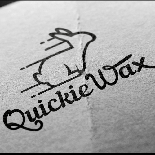 Wax design with the title 'Logo for Quickie Wax'