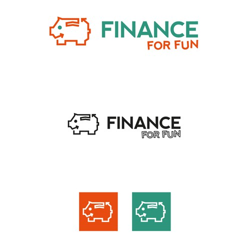 Finance brand with the title 'Artsy design for a company that wants to be fun/interesting without being trivial'