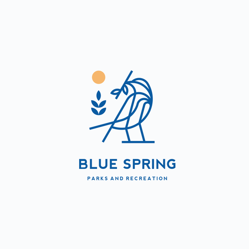 Park logo with the title 'Blue Spring'