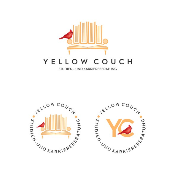 Couch design with the title 'Logo Concept for Yellow Couch'